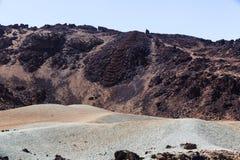 Los Roques de Garcia, vulcano emblematico unico di Teide dell'isola di Tenerife Fotografie Stock