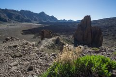 Los Roques De Garcia w Canadas Teide Natoinal park obraz stock