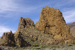 Los Roques at El Teide National Park. Stock Photo