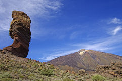 Los Roques at El Teide National Park. stock images