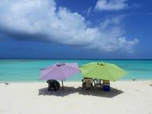 Los Roques, karibisches Meer Vogelperspektive von Paradiesinsel mit Kristallwasser stockfoto