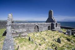 Los ruines de una iglesia vieja Imagen de archivo