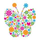 Mariposa simbólica Imagen de archivo libre de regalías