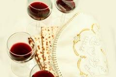 Los símbolos del banquete de la pascua judía Fotografía de archivo