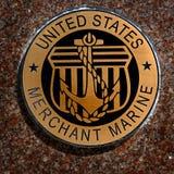 Los símbolos militares de los E.E.U.U. para Estados Unidos mantienen el aire de los infantes de marina de la marina de guerra Imagen de archivo libre de regalías