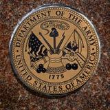 Los símbolos militares de los E.E.U.U. para Estados Unidos mantienen el aire de los infantes de marina de la marina de guerra Fotografía de archivo libre de regalías