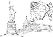 Los símbolos principales de América Fotografía de archivo
