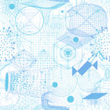 Los símbolos y los elementos sagrados de la geometría wallpaper el modelo inconsútil Fotos de archivo libres de regalías