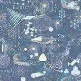 Los símbolos y los elementos sagrados de la geometría wallpaper el modelo inconsútil Imagen de archivo