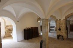 Los sótanos del monasterio de Pedralbes en Barcelona fotos de archivo