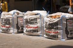 Los Sacos Marrones - Barcelona Stock Image