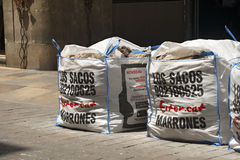 Los Sacos Marrones - Barcelona Royalty Free Stock Photos