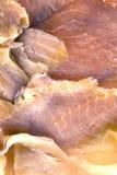 Los salmones cortaron en rebanadas imagenes de archivo