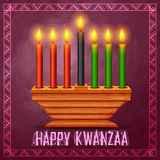Los saludos felices de Kwanzaa para la celebración del festival afroamericano del día de fiesta cosechan Foto de archivo libre de regalías