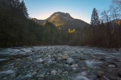 Los scapes escénicos hermosos de Vancouver y de Fraser Valley Scenic Backgrounds Fotos de archivo