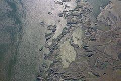Los sedimentos estructuran en la presa de Cunovo en el río Danubio Fotos de archivo