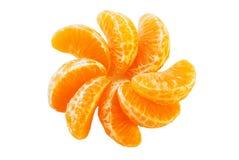 Los segmentos jugosos de la mandarina. Imagen de archivo libre de regalías