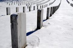 Los sepulcros para arriba se cierran en Arlington Imagenes de archivo