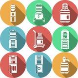 Los servicios de los refrigeradores de agua colorearon iconos Imagen de archivo libre de regalías