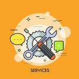 Los servicios enrarecen la línea concepto Imagen de archivo libre de regalías