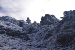Los Shan nevados de Chilai de las montañas de Qilai se extienden en Taiwán en el amanecer Foto de archivo