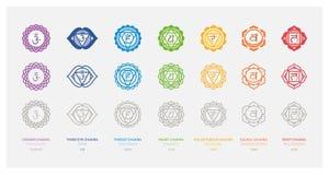 Los siete chakras Imagen de archivo