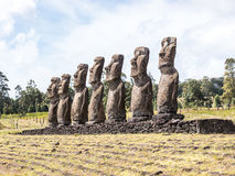 Los siete de Tahai Imagen de archivo