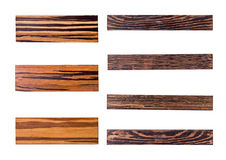 Los siete paneles de madera de oro foto de archivo