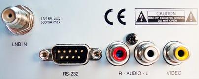 Los sistemas de pesos americanos análogos conectan de la caja por satélite Fotografía de archivo libre de regalías