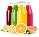 Los smoothies de las frutas de la naranja del zumo de fruta del Smoothie en cuadrado de la botella son Fotos de archivo libres de regalías