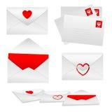 Los sobres fijaron 1 - amor Foto de archivo