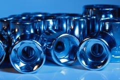 Los socketes de la llave del metal se cierran para arriba Imagen de archivo libre de regalías