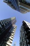 Los solariums de Milán, Milano, solea, aria se elevan las unidades residenciales más altas por toda la nación Fotografía de archivo libre de regalías