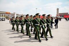 Los soldados chinos Fotografía de archivo libre de regalías