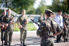 Los soldados están tomando el juramento Imagen de archivo