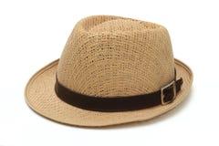 Los sombreros de los hombres ningunos fondos blancos Imágenes de archivo libres de regalías