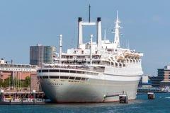 Los SS Rotterdam V en el puerto de Rotterdam Imagen de archivo libre de regalías