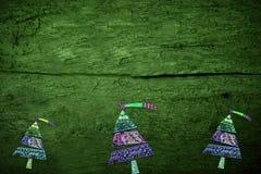 Los strees de Christma vacian el fondo rústico Foto de archivo