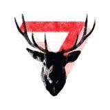 Los stylized dots deer. Geometric figure. Tattoo Royalty Free Stock Photography