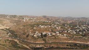 Los suburbios meridionales de Belén, la autoridad palestina Visi?n desde el abej?n almacen de metraje de vídeo