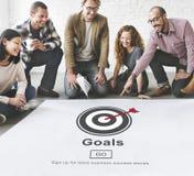 Los sueños de la aspiración de las metas creen concepto de la blanco del objetivo imágenes de archivo libres de regalías