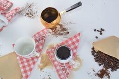 Los sueños dulces se hacen del café Fotos de archivo libres de regalías