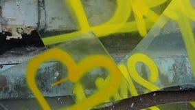 Los sueños, la almádena rompen el vidrio, un ejemplo del los sueños quebrados 60 fps metrajes
