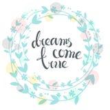 Los sueños vienen Foto de archivo