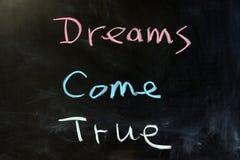 Los sueños vienen verdad Foto de archivo libre de regalías