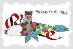 Los sueños vienen verdad Stock de ilustración