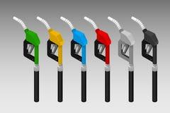 Los surtidores de gasolina stock de ilustración