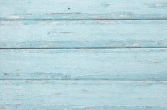 Los tableros horizontales de madera pintaron azul Fondo de madera azul fotos de archivo