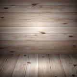 Los tablones de madera de los pisos marrones grandes texturizan el papel pintado del fondo Fotografía de archivo libre de regalías