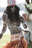 Los Tainos, die Wiederinkraftsetzung der ursprünglichen afrikanischen Sklaven, die in die Dominikanische Republik geholt wurden stockbild